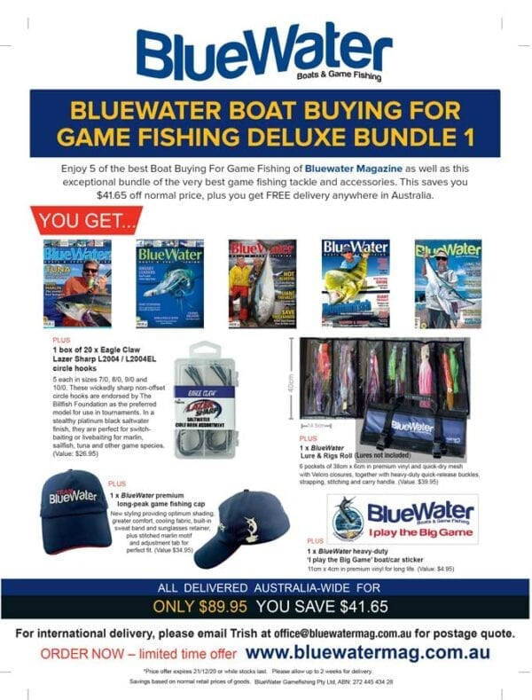 BlueWater BOAT BUYING FOR GAME FISHING Deluxe Bundle 1