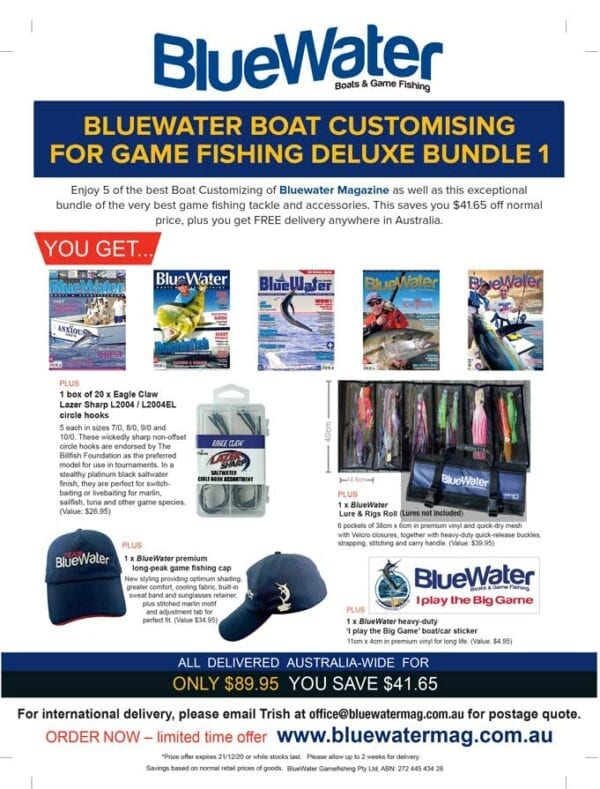 BlueWater BOAT CUSTOMISING FOR GAME FISHING Deluxe Bundle 1
