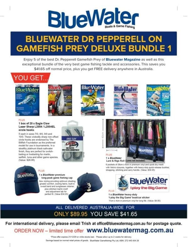BlueWater DR PEPPERELL ON GAMEFISH PREY Deluxe Bundle 1