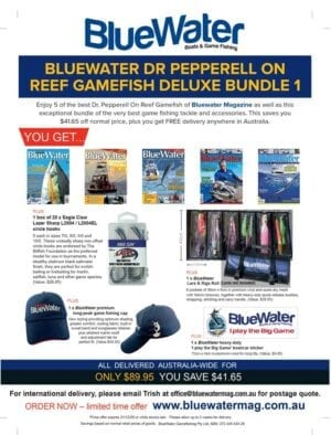 BlueWater DR PEPPERELL ON REEF GAMEFISH Deluxe Bundle 1
