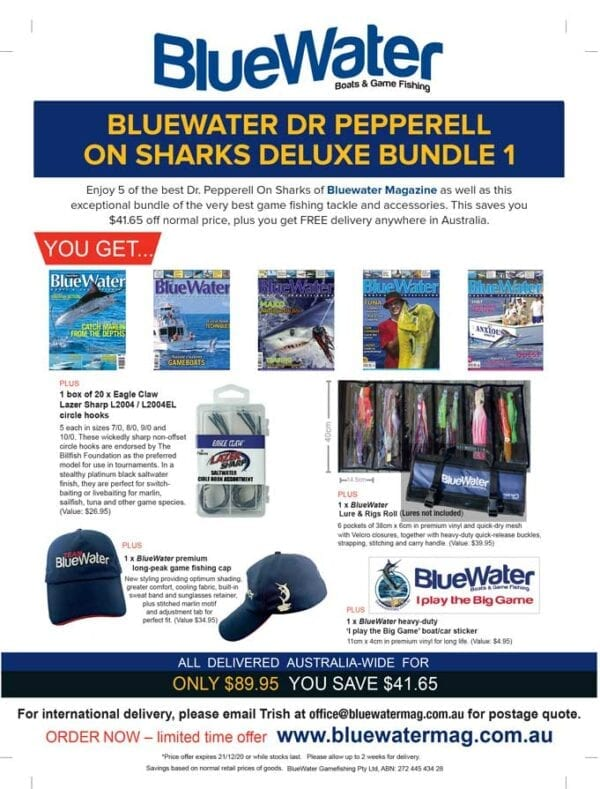 BlueWater DR PEPPERELL ON SHARKS Deluxe Bundle 1