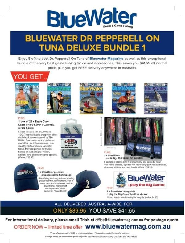 BlueWater DR PEPPERELL ON TUNA Deluxe Bundle 1