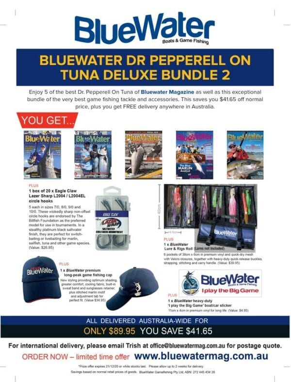BlueWater DR PEPPERELL ON TUNA Deluxe Bundle 2