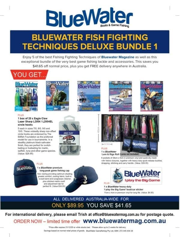 BlueWater FISH FIGHTING TECHNIQUES Deluxe Bundle 1