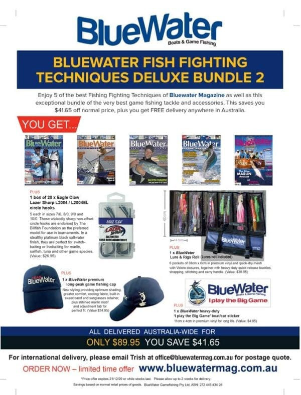 BlueWater FISH FIGHTING TECHNIQUES Deluxe Bundle 2