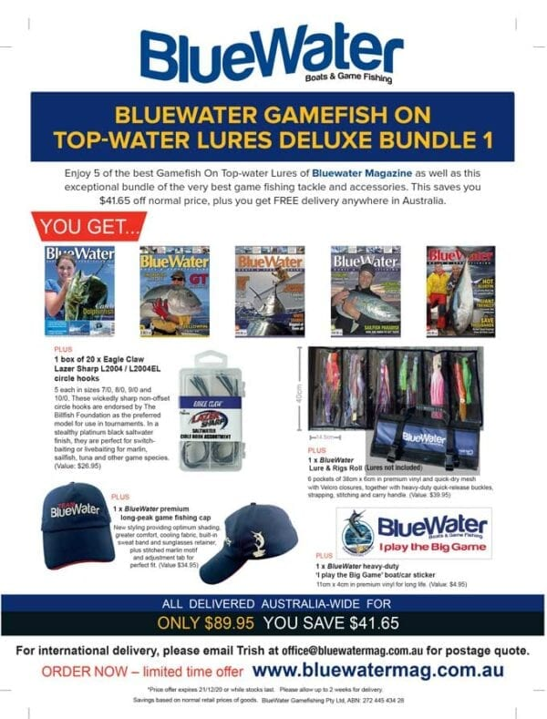 BlueWater GAMEFISH ON TOP-WATER LURES Deluxe Bundle 1