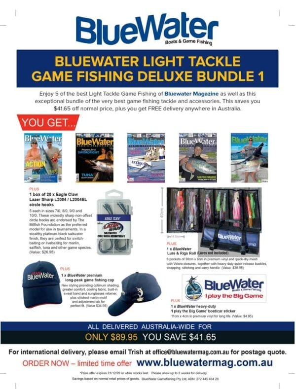 BlueWater LIGHT TACKLE GAME FISHING Deluxe Bundle 1