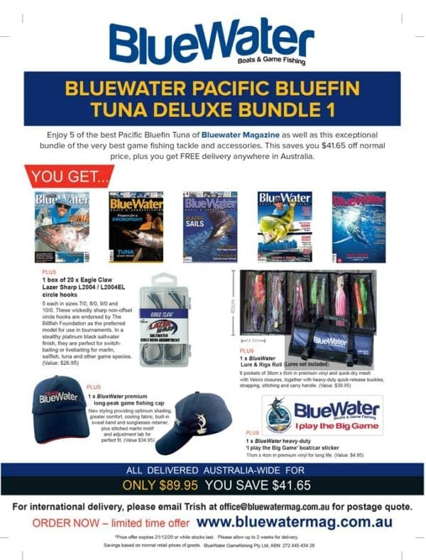 BlueWater PACIFIC BLUEFIN TUNA Deluxe Bundle 1