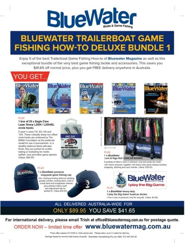 BlueWater TRAILERBOAT GAME FISHING HOW-TO Deluxe Bundle 1