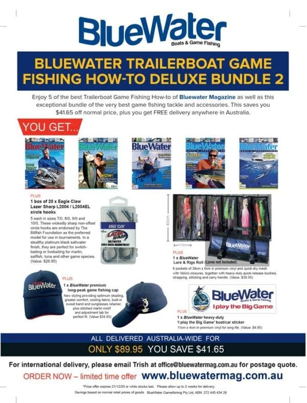 BlueWater TRAILERBOAT GAME FISHING HOW-TO Deluxe Bundle 2