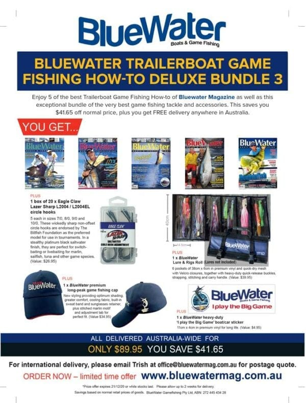 BlueWater TRAILERBOAT GAME FISHING HOW-TO Deluxe Bundle 3