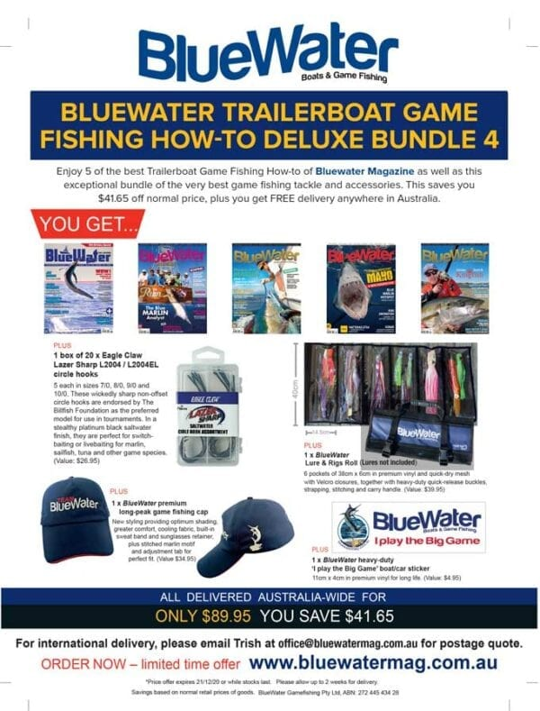 BlueWater TRAILERBOAT GAME FISHING HOW-TO Deluxe Bundle 4