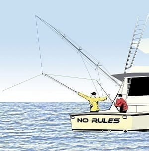 Rules Around Touching The Fishing Line While Hooked Up