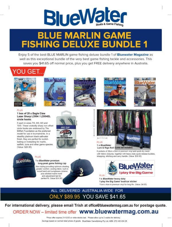 BlueWater BLUE MARLIN GAME FISHING Deluxe Bundle – 1