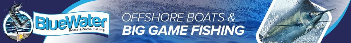 BlueWater Boats Game Fishing Banner