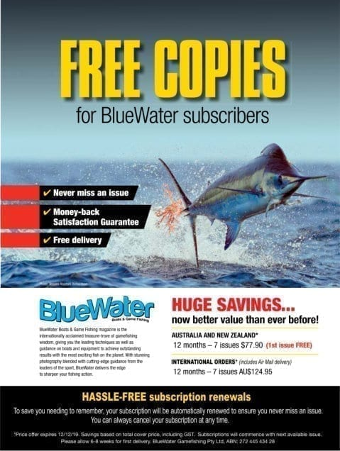 Bluewater Boats N Game Fishing Magazine Printed Subscription