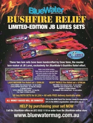 BlueWater Bushfire Relief JB Lures Sets both sets orig