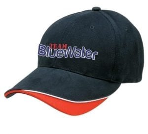 Bluewater Fishing Cap Navy White Red