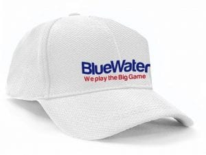 Bluewater Fishing Cap White Mesh Bluewater Big Game
