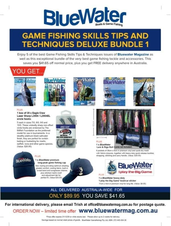 BlueWater Game Fishing Skills Tips and Techniques Deluxe Bundle 1