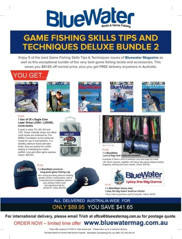 BlueWater Game Fishing Skills Tips and Techniques Deluxe Bundle 2