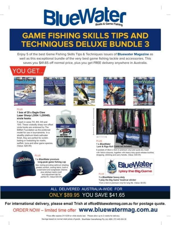 BlueWater Game Fishing Skills Tips and Techniques Deluxe Bundle 3