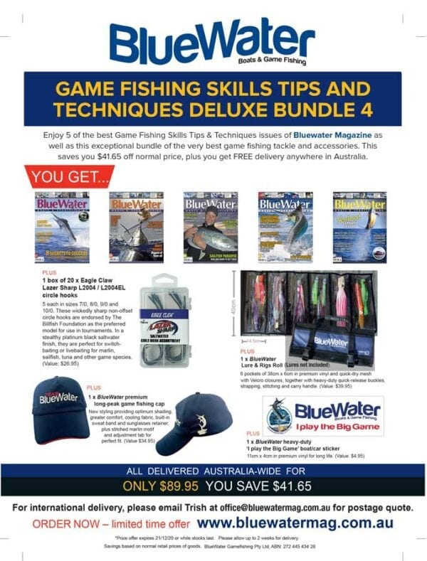BlueWater Game Fishing Skills Tips and Techniques Deluxe Bundle 4