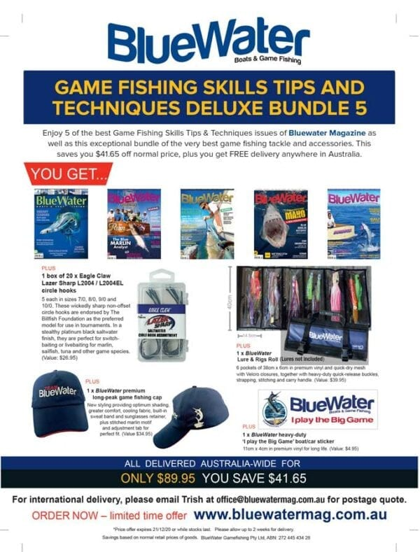 BlueWater Game Fishing Skills Tips and Techniques Deluxe Bundle 5