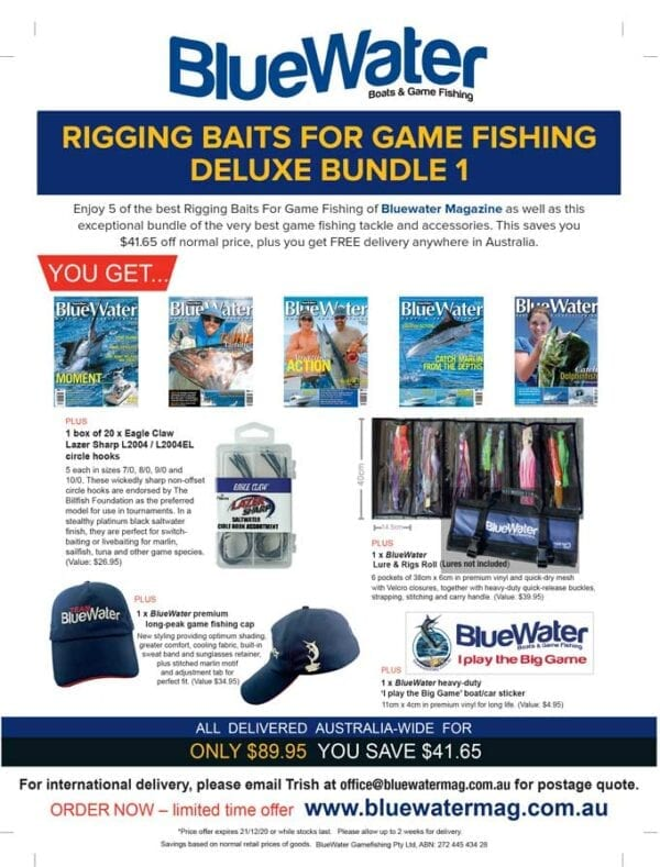 BlueWater RIGGING BAITS for Game Fishing Deluxe Bundle 1