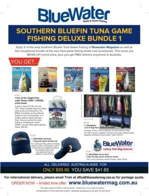 BlueWater SOUTHERN BLUEFIN TUNA Game Fishing Deluxe Bundle 1